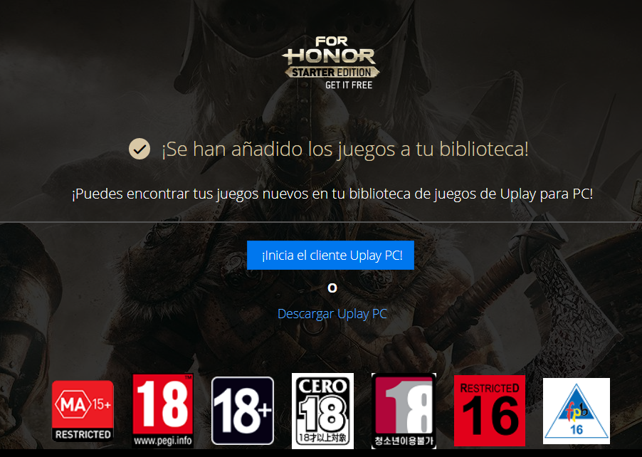 For Honor gratis uPlay