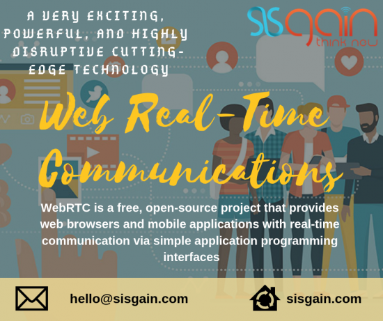 SISGAIN'S WEB REAL TIME COMMUNICATIONS SERVICES