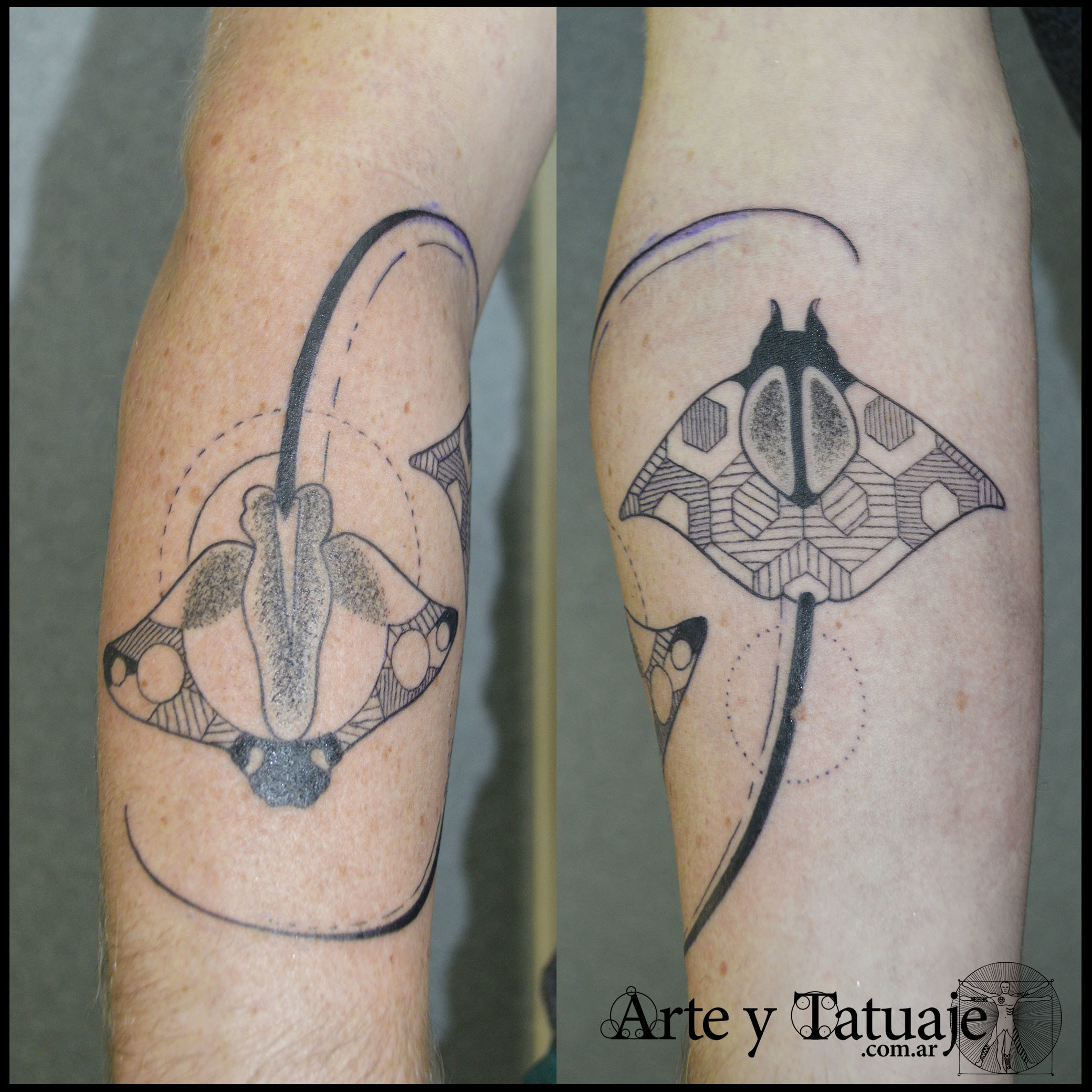 Tatuaje de mantarray...
