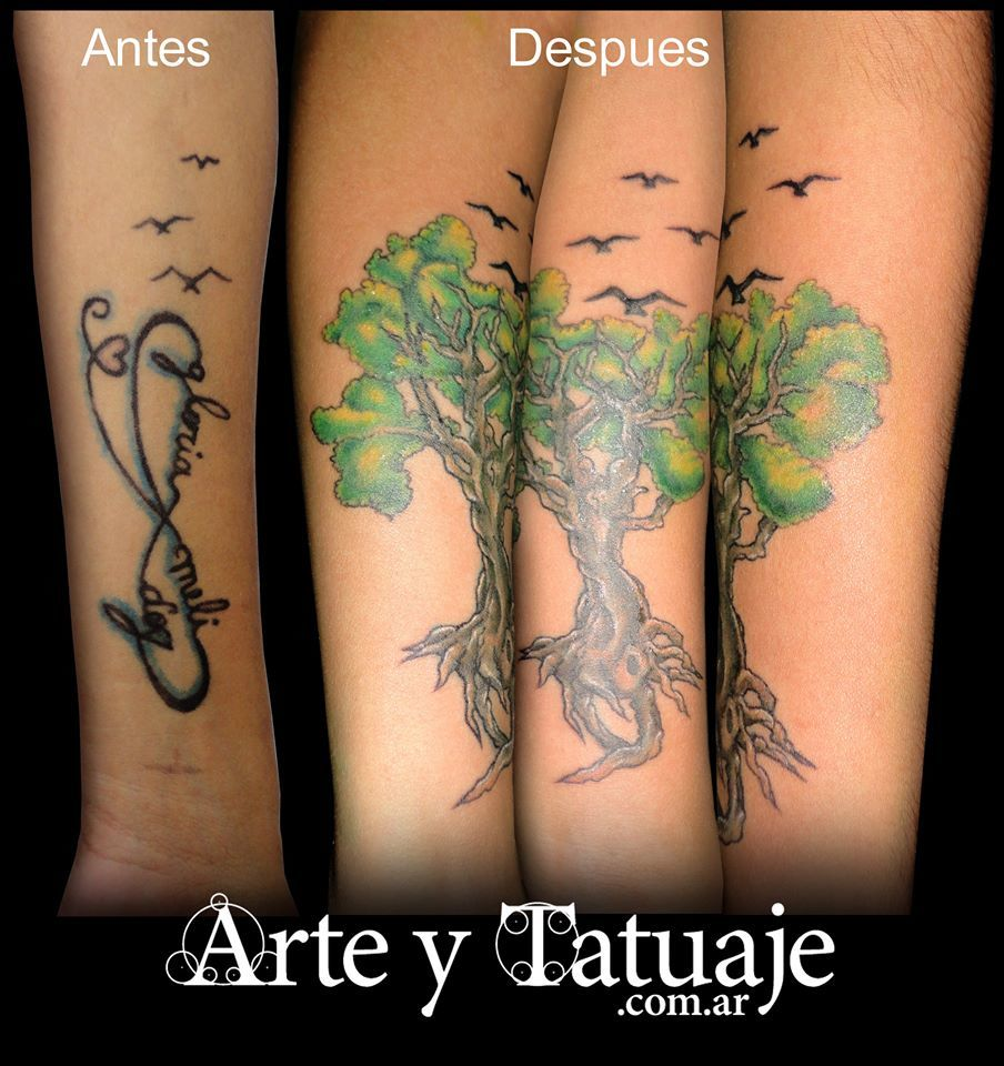 Cover up de tatuaje ...