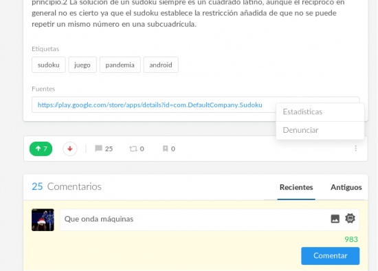 Como denunciar un post en la V7.6 [Megapost][Crap Nocturno] published in Offtopic