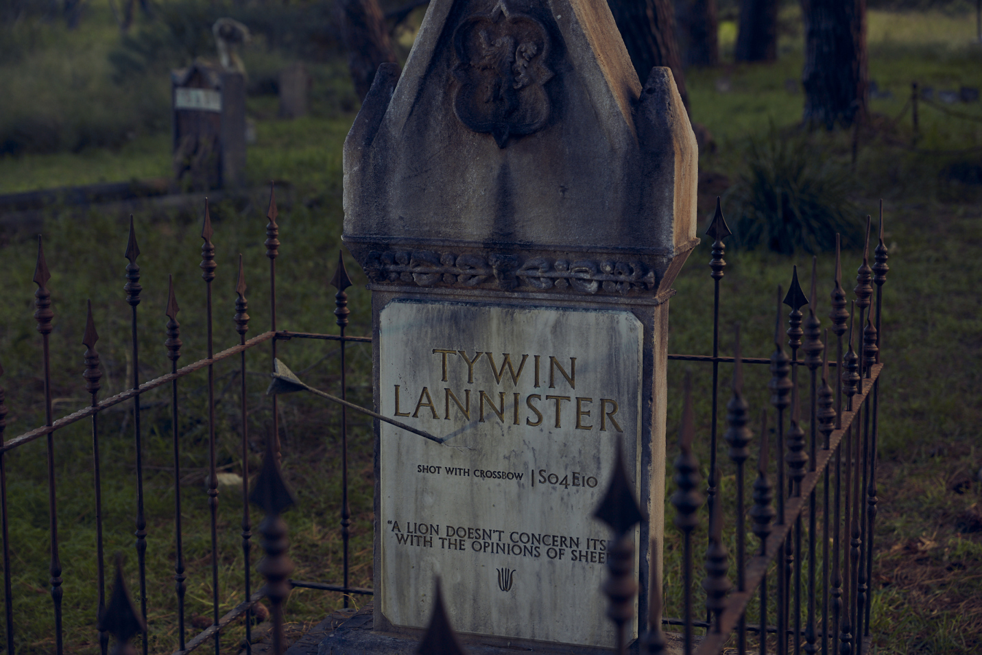 Cementerio dedicado a los muertos de Games of Thrones
