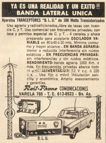 Banda lateral única, comunicación por radio en un auto published in Archivo de autos