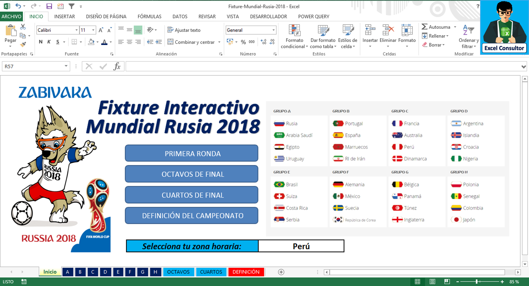 Excel Consultor (my proyect)+Fixure Mundial 2018(Excel)