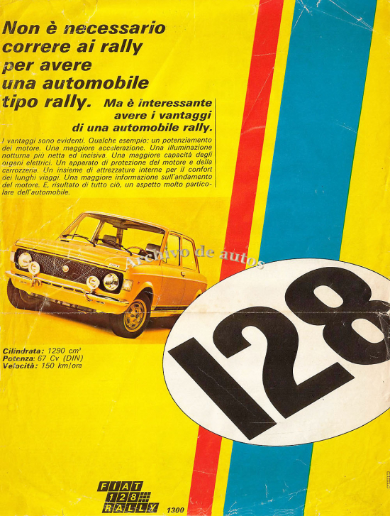 El Fiat 128 Rally de 1971 published in Archivo de autos