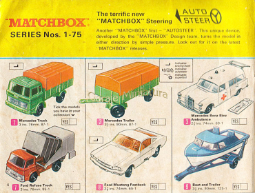 Catálogo Matchbox Series 1-75 del año 1969 published in Archivo de autos