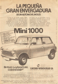 Mini 1000 importado a Argentina published in Archivo de autos