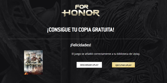[Uplay] For Honor Standard Edition.